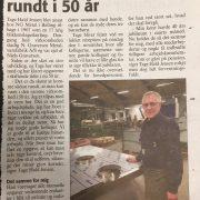 Tage Hald Jensen, 50 års jubilæum